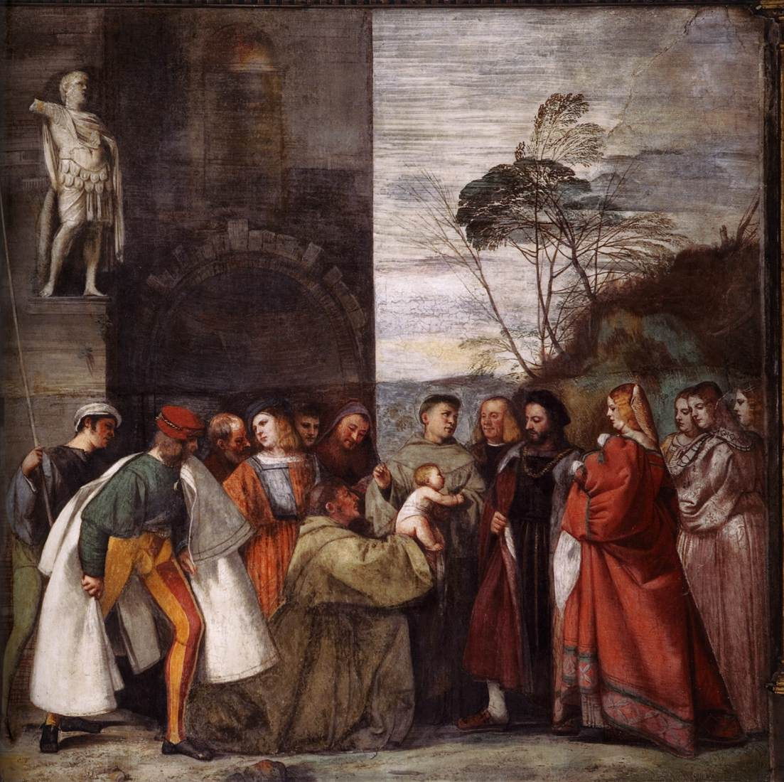 Titian, The miracle of the newborn child.